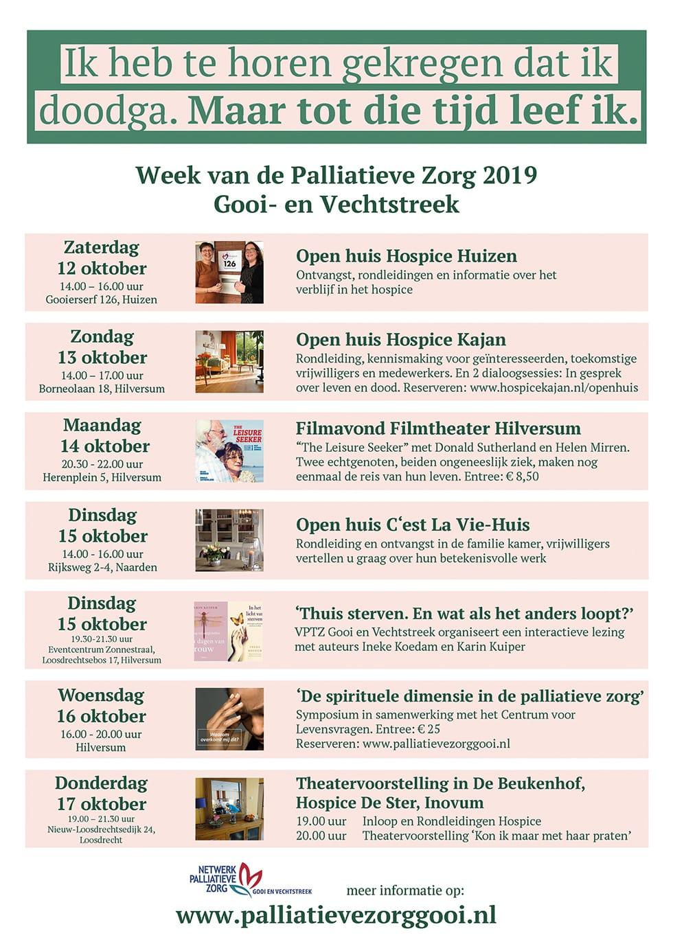 Flyer week van de palliatieve zorg 2019